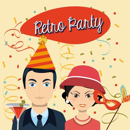 eps10: retro party design, vector illustration eps10 graphic