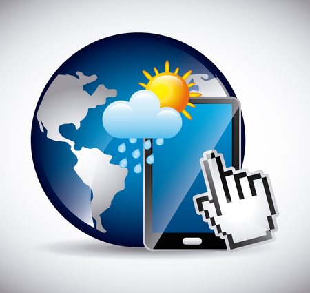 icons site search: online weather design, vector illustration eps10 graphic