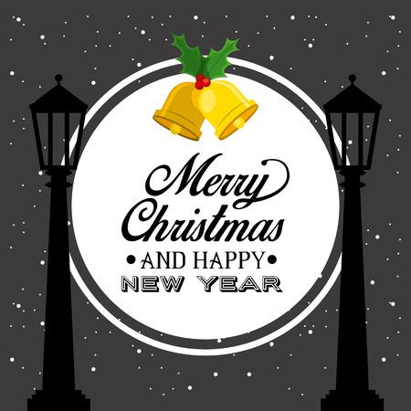 happy new years: happy merry christmas design, vector illustration eps10 graphic