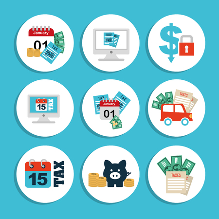 car bills: business set icons design, vector illustration eps10 graphic Illustration