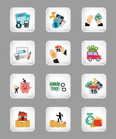 car bills: business set icons design, vector illustration eps10 graphic Illustration