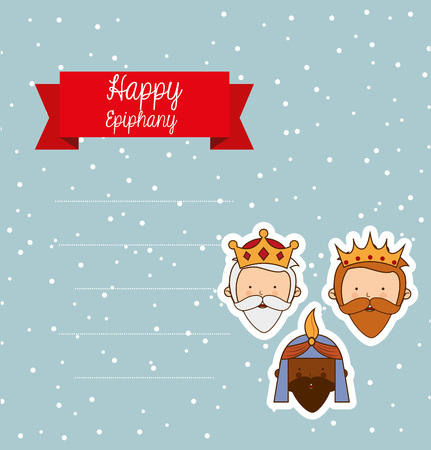 balthasar: happy epiphany design, vector illustration eps10 graphic