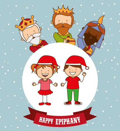 melchior: happy epiphany design, vector illustration eps10 graphic