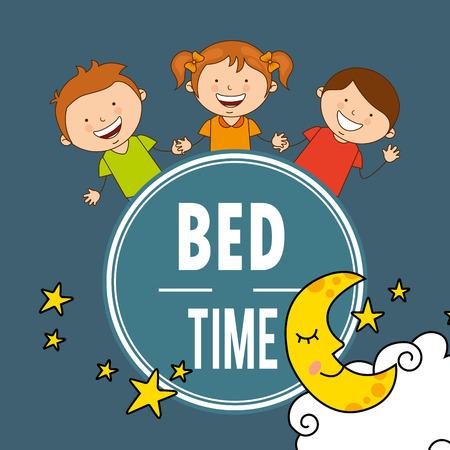 bed time: bed time design, vector illustration   graphic Illustration