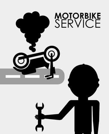 machanic: repair service design, vector illustration   graphic Illustration