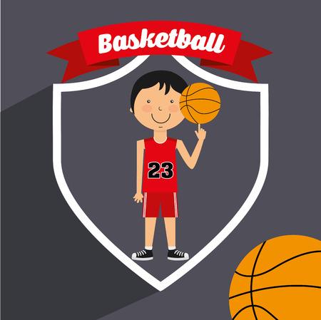 balon de basketball: dise�o de estilo de vida deportiva