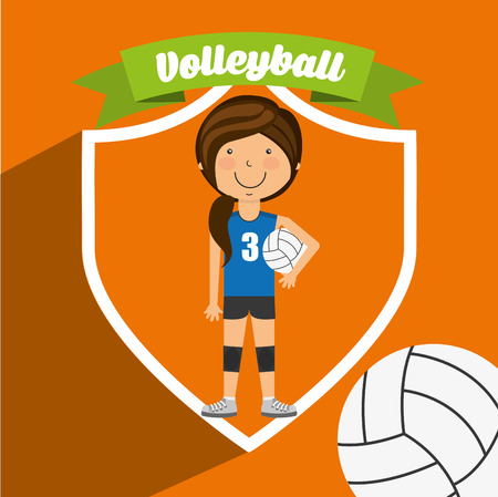 balon voleibol: diseño de estilo de vida deportiva