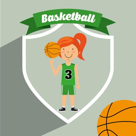 balon baloncesto: dise�o de estilo de vida deportiva
