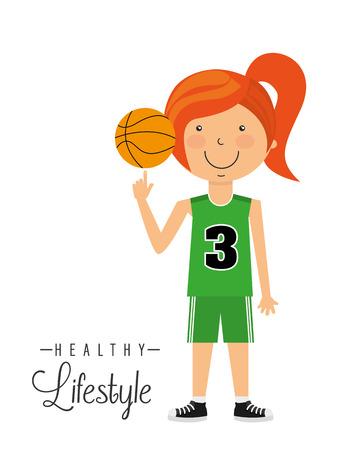 balon de basketball: diseño de estilo de vida saludable
