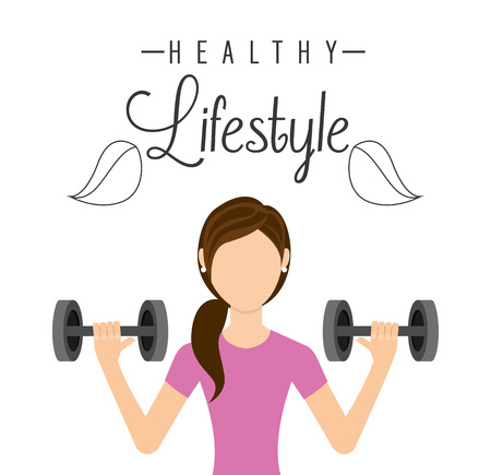 healthy lifestyle: healthy lifestyle design Illustration