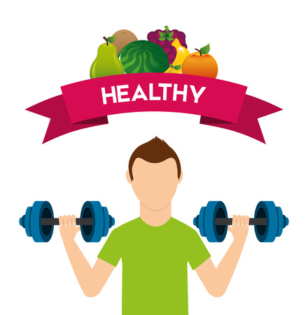 healthy lifestyle design Illustration