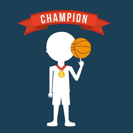 balon de basketball: celebrar dise�o campe�n Vectores