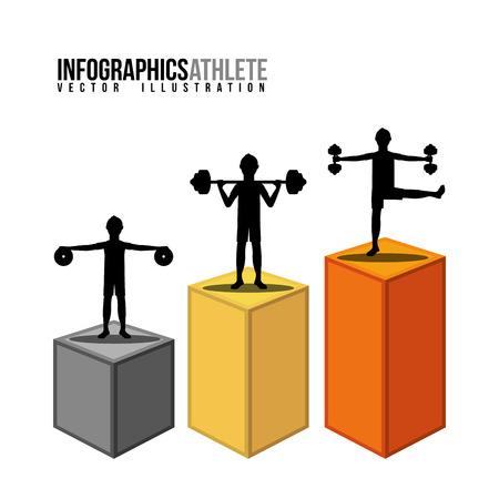 active life: healthy lifestyle design Illustration