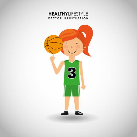 balon baloncesto: dise�o de estilo de vida saludable