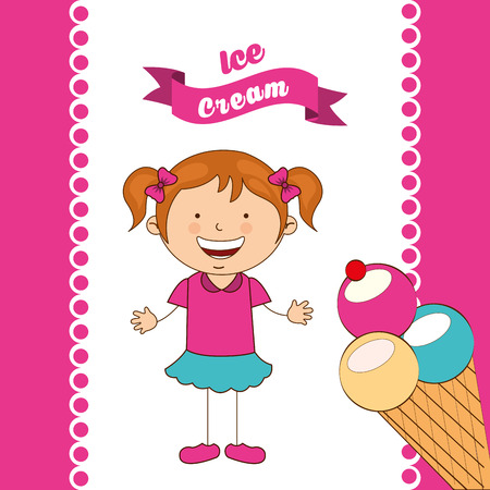 children eating: delicious ice cream design