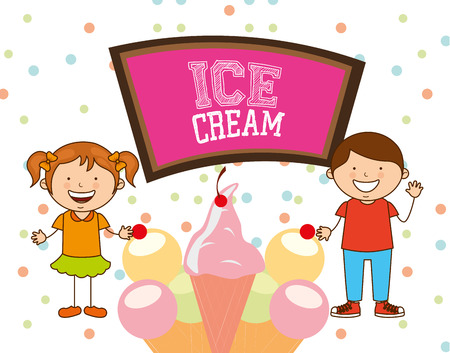 boy kid: delicious ice cream design