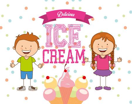 delicious: delicious ice cream design  Illustration