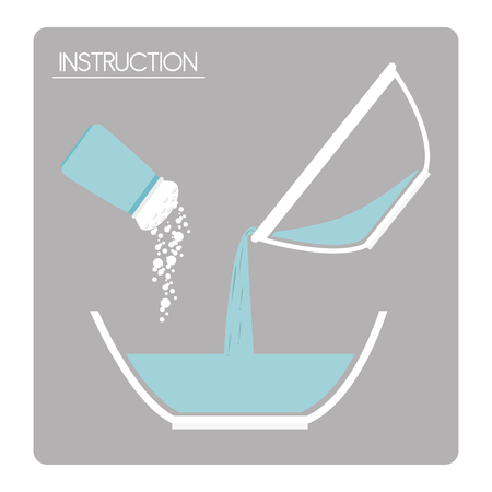 preparation: preparation instructions icon design, vector illustration eps10 graphic Illustration