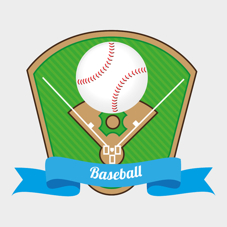 baseball diamond: baseball sport design, vector illustration eps10 graphic