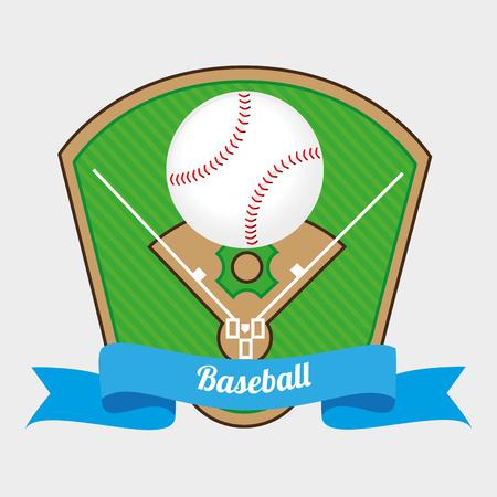 baseball diamond: baseball sport design, vector illustration eps10 graphic