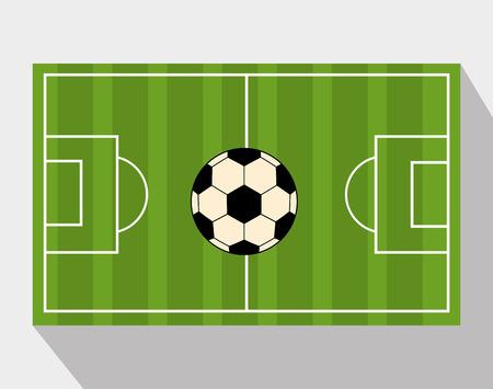 soccer field: football soccer design, vector illustration eps10 graphic
