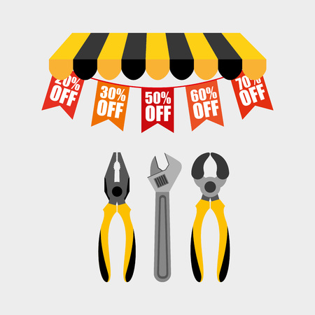 pincers: great tools for sale design, vector illustration eps10 graphic
