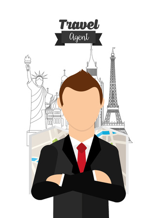 travelling salesman: travel agency design, vector illustration eps10 graphic Illustration