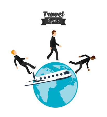 travelling salesman: travel agency design, vector illustration eps10 graphic Illustration