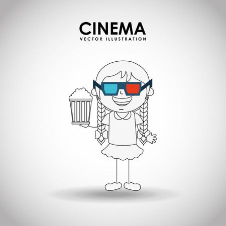 moviehouse: kids moviegoers design, vector illustration eps10 graphic