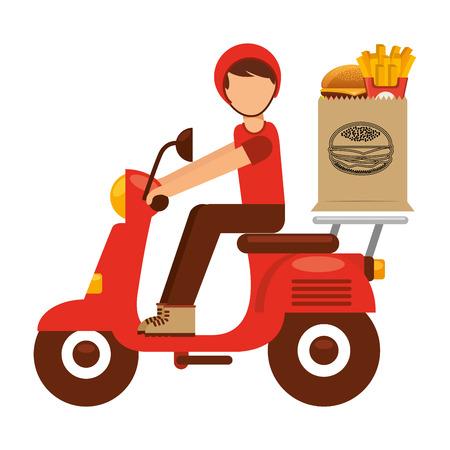 fast food: dise�o de la entrega de alimentos, ilustraci�n vectorial gr�fico eps10