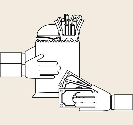 bag icon: food delivery design, vector illustration eps10 graphic Illustration