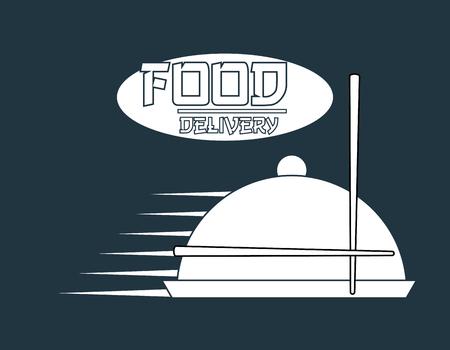comida japonesa: dise�o de la entrega de alimentos, ilustraci�n vectorial gr�fico eps10