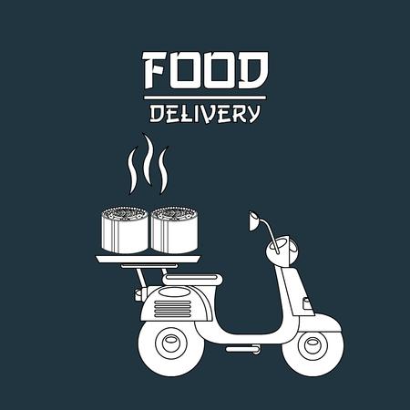 voedsel levering ontwerp, vectorillustratie eps10 grafische