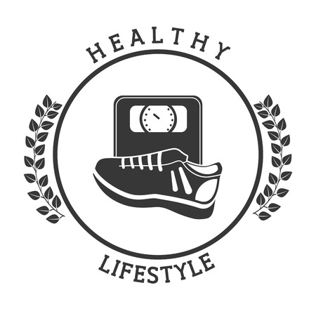 vida sana: diseño de estilo de vida saludable, ilustración vectorial gráfico eps10