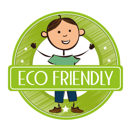 green cute: Go green and ecology design, vector illustration graphic Illustration