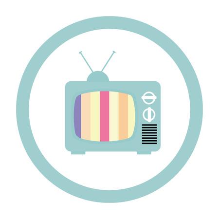 television icon: Vintage technology media design, vector illustration eps 10.