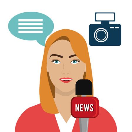 journalism: Journalism and news online media design, vector illustration graphic
