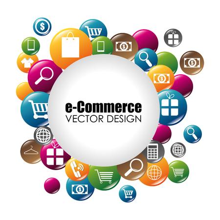 ショッピング、e コマース グラフィック デザイン、ベクトル イラスト
