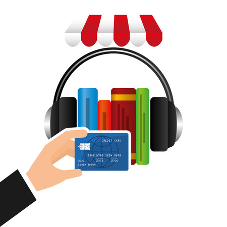purchases: Credit card purchases design, vector illustration eps10 graphic Illustration