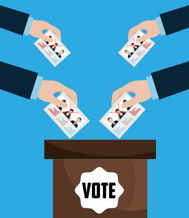 voter registration: Vote and politician campaign, vector illustration graphic