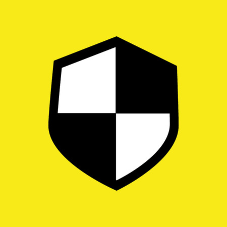 lock block: Security and surveillance system over yellow background, vector graphic.