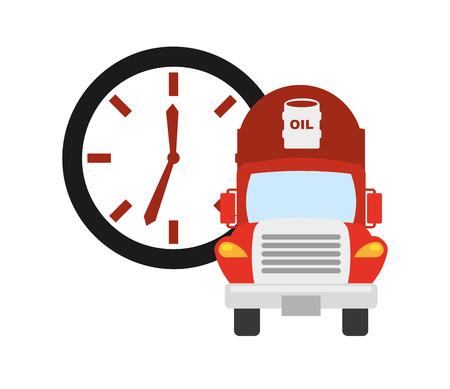 refinery engineer: oil industry design, vector illustration eps10 graphic Illustration