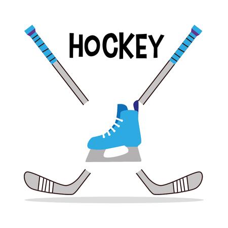 iceskates: Hockey Sport design over white background, vector illustration