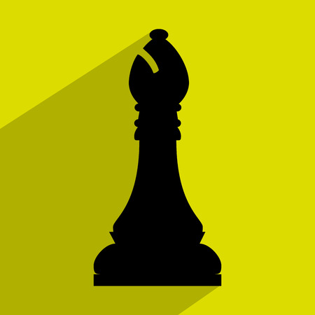 Chess game icon design over green background, vector graphic eps10