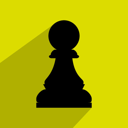chessmen: Chess game icon design over green background, vector graphic eps10