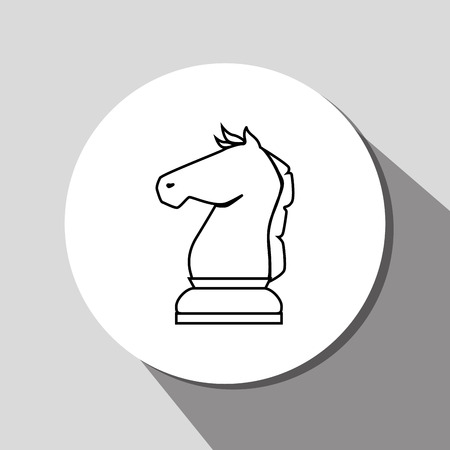 Chess game icon design, vector graphic eps10 Illustration