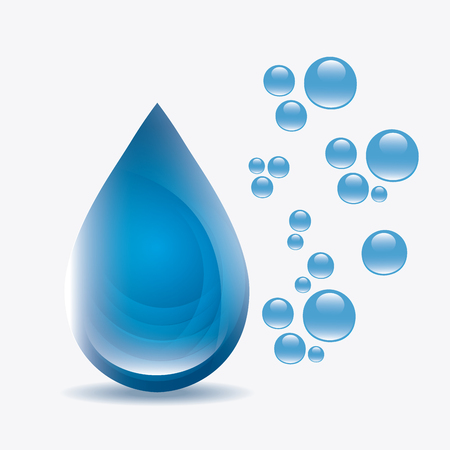 water theme: Save water ecology theme design, vector illustration