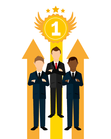 one on one meeting: business leadership design, vector illustration eps10 graphic