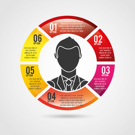 liderazgo empresarial: diseño de liderazgo empresarial, ilustración vectorial gráfico eps10