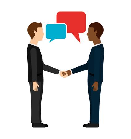 comunication: business leadership design, vector illustration eps10 graphic